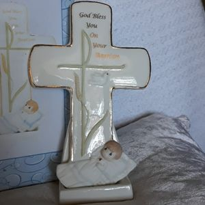 Precious Moments Other - Precious Moments Boy Baptism Cross